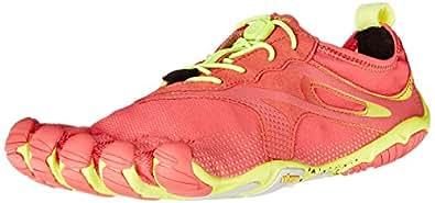 Vibram Women's Bikila Evo Road Running Shoe, Red/Yellow, 36 EU/6.5 M US