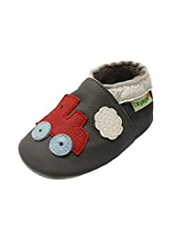 Sayoyo Baby Train Soft Sole Brown Leather Infant and Toddler Shoes