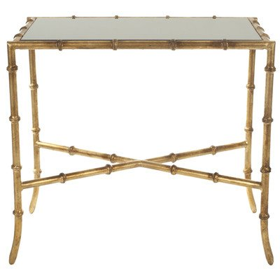 Chandler Accent Table Black/ Gold/Granite Topped