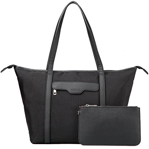 Laptop Bag for Women - Shoulder Tote Bag for Work,Travel - Black