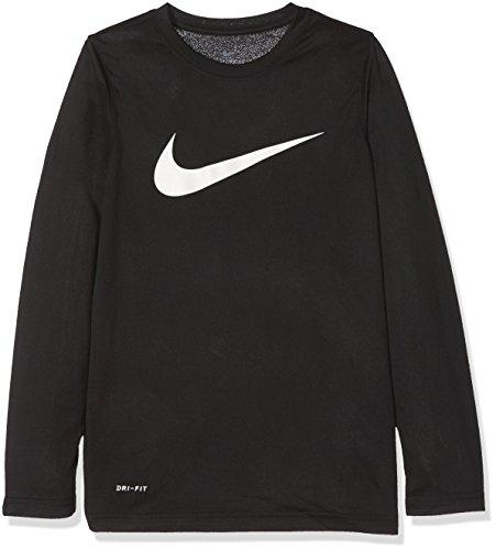Dry Nike shirt white Black Solid T Swoosh Bambino 7qqd8