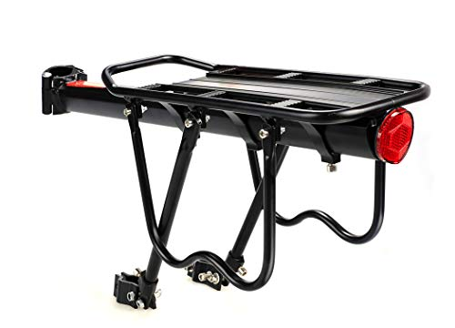 """110lbs Bike Rack - Bicycle Touring Carrier, Frame-Mounted for Heavier Top & Side Loads, Height Adjustable for 26""""-29"""" Frames"""
