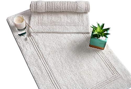 - Woven St Reversible Tufted Luxury Cotton Bath Rug Floor mat for Spa Vanity Shower Super Soft Machine Washable Bath Rugs for Bathroom/Kitchen Water Absorbent Bedroom Area Rugs (21