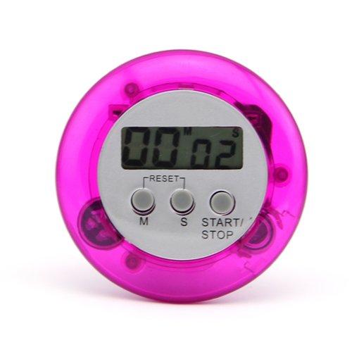 Round Digital Kitchen Timer - 1 X Mini Round Magnetic LCD Digital Cooking Kitchen Countdown Timer Alarm