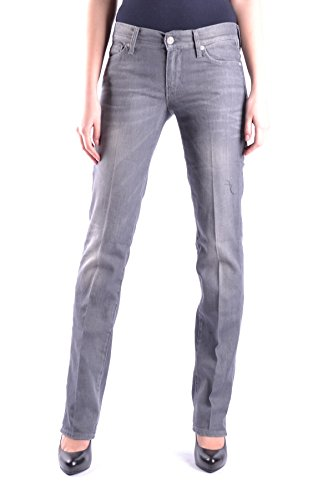 7 For All Mankind Femme MCBI004003O Gris Coton Jeans