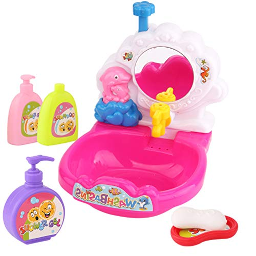Leoy88 Wash Basin Toy Bath Cartoon Cute Bathtub Bathing Beach Toy for Toddler Baby