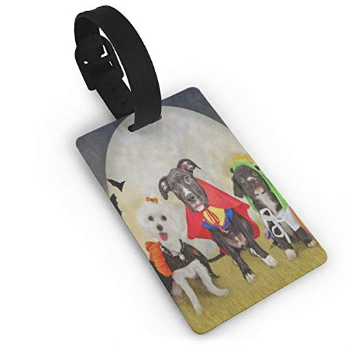 Luggage Tags Hipster Puppy Dog Dressed In Halloween
