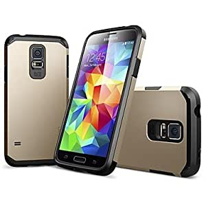 ZX 2-in-1 Armor Hard Case for Samsung s5 9600 (Assorted Colors) , Golden
