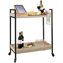 Sauder 420043 Bar Cart North Avenue, Craftsman Oak