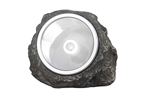 Polyresin Rock (pearlstar Solar Powered Rock Light Outdoor Wireless LED Polyresin Stone Light Waterproof Landscape Gardren Spotlight (1 Pack Rock Light))