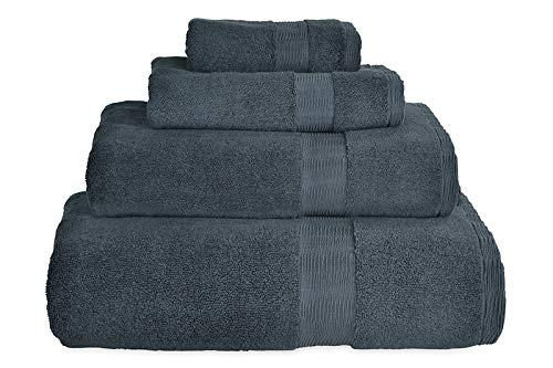 (DKNY Mercer Cotton Bath Sheet Towel Charcoal, 35
