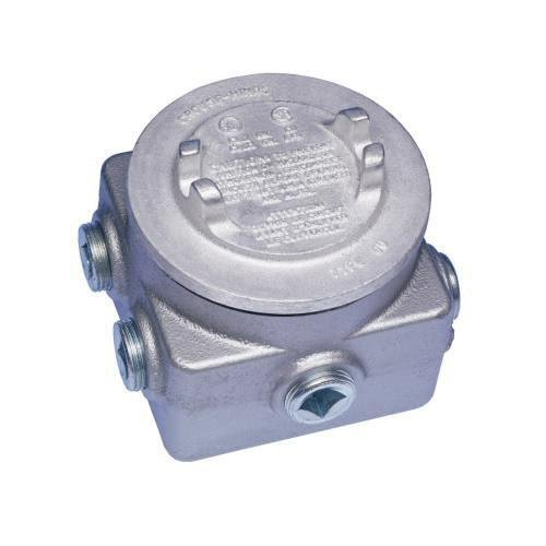 Crouse-Hinds GUP314 Electrogalvanized and Aluminum Acrylic Paint Feraloy Iron Alloy Junction Box 4-1/8 Inch 29 Cubic-Inch Series GUP