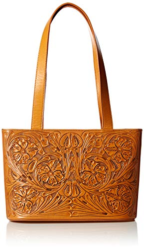 Mauzari Women's Small Leather Tote Shoulderbag (Honey)