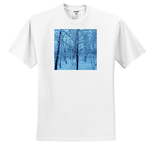 TDSwhite – Winter Seasonal Nature Photos - Winter Weather Blue Hour - T-Shirts - Youth T-Shirt Med(10-12) (ts_285037_13) ()