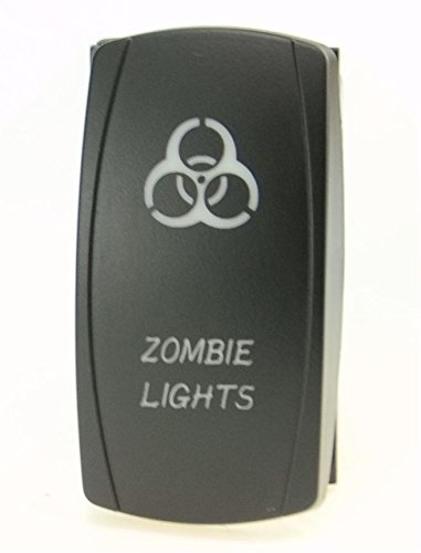 Laser Blue Rocker Switch Zombie Lights 20A 12V On/off LED Light__4x 4 Off Road FOR ALL ATV UTV OFF ROAD 4X4 VEHICLES TRUCKS JEEP SUV BOAT RV