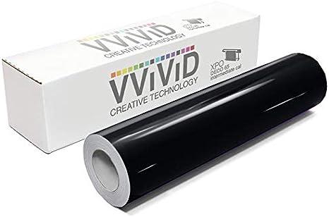 VViViD Dark Grey Gloss DECO65 Permanent Adhesive Craft Vinyl for Cricut Silhouette /& Cameo 7ft x 11.8 Inch Roll