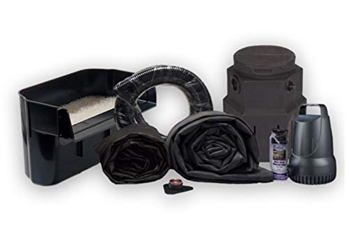 Half Off Ponds PSH4 - 10' x 15' Pondless Small Hybrid Waterfall Kit with 3,300 GPH Pump, 16' Waterfall, and Pump Vault