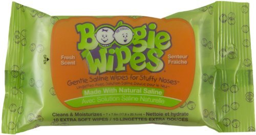 (Boogie Wipes 10 Count Fresh Scent Travel Pack)