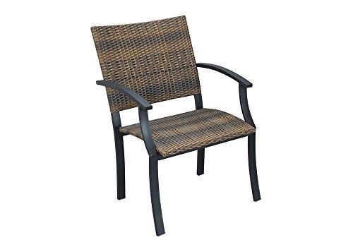 amazon com set of 2 newport outdoor arm chair walnut brown black rh amazon com  newport outdoor furniture