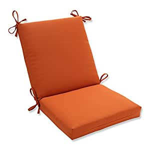 Pillow perfect indoor outdoor cinnabar squared chair cushion burnt orange home - Orange kitchen chair cushions ...
