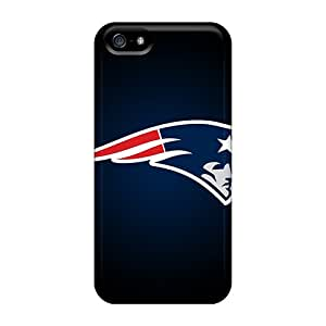 Shock-dirt Proof New England Patriots Cases Covers For Iphone 5/5s