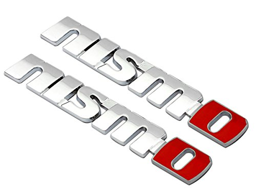 Deselen LP MO01 Nissan Nismo Car Emblem Metal Stickers Decals Badge Labeling for Nissan GT R R35 Juke 370Z Nismo n Attack Nissan Sentra Nismo Maxima Pack of 2 Polished White
