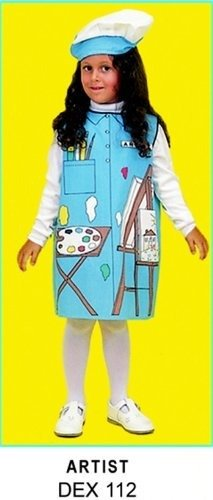Occupation Costumes (Occupations Childrens Costume: Artist - Velcro Closure, Washable; no. DEX112)