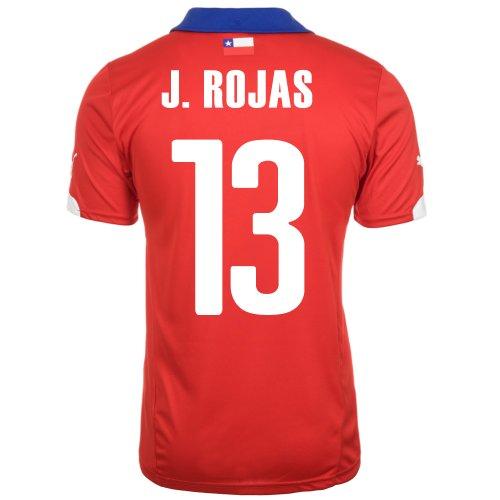節約磁器シンプルさPuma J. ROJAS #13 Chile Home Jersey World Cup 2014/サッカーユニフォーム チリ ホーム用 ワールドカップ2014 背番号13 ホセ?ロハス