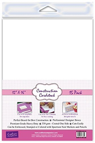 Crafter's Companion Construction Cardstock (15 Pack), 12