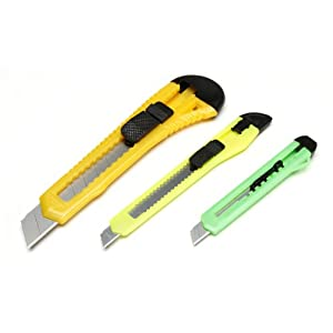 Darice Retractable Razor Knife Set, Assorted Color