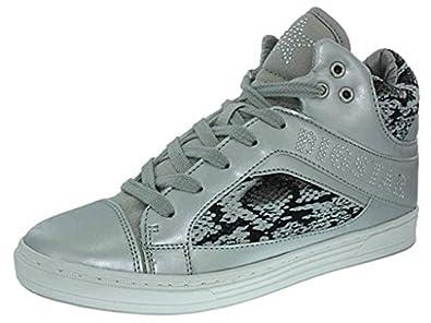 Big Star h14bigstar001 blanc - Chaussures Basket montante Femme