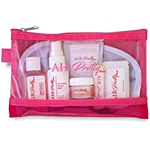AirPretty Classic TSA Compliant Cosmetic Travel Kit Carry On For Women Includes Clear Bag With Luxurious Beauty Package of Facial Mist, Moisturizing Creme, Lip Balm, Makeup Remover, Breath Mints,More
