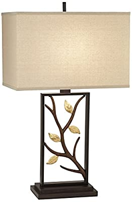 Vera Bronze Branch and Leaves Sculptural Table Lamp