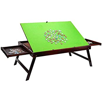 Amazon Com Wooden Jigsaw Tilting Puzzle Table For Adults