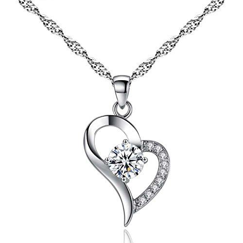 GYXYZB Necklace Jewelry Jewelry Heart-Shaped Micro-Inlaid Diamond Pendant Female Pendant
