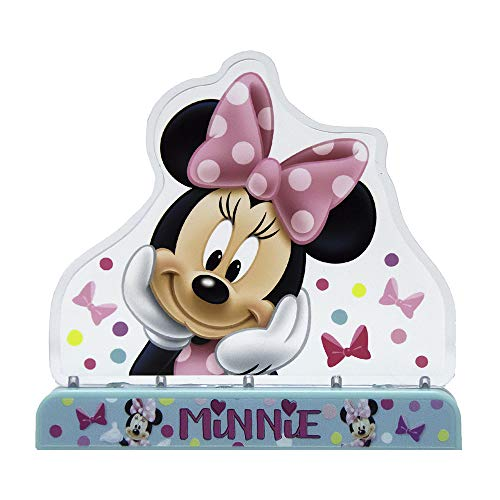 Disney Minnie Mouse Cake Topper - Party Supplies, Freestanding, Tabletop, Party Favor, Centerpiece. Great for Parties, Birthdays, and Sleepovers. Fun and Reusable with Three Blinking Light -