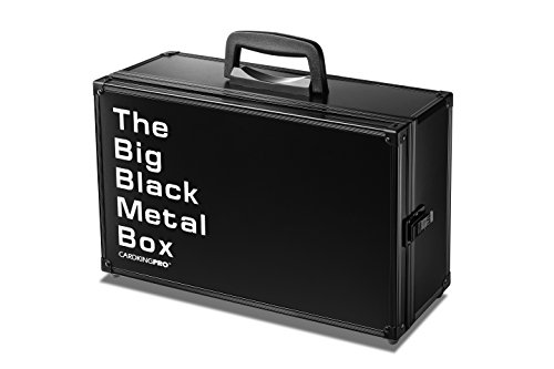 (The Big Black Metal Box (BBB Edition) | Case is Compatible with Magic The Gathering, MTG, All Standard Card Games (Game Not Included) | Includes 8 Dividers | Fits up)