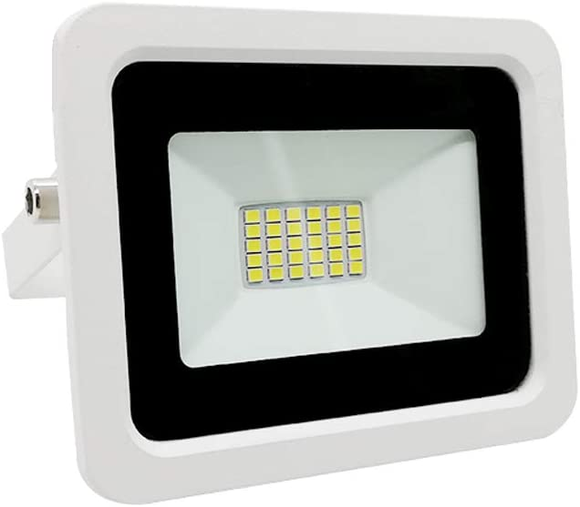 Miwatt 10W LED Ultra d/ünn Strahler Au/ßen, 1500LM Superhell LED Fluter, IP68 Wasserdicht Au/ßenstrahler Flutlicht, Flutlichtstrahler f/ür Hof, Garage, Sportplatz(Kaltes Wei/ß