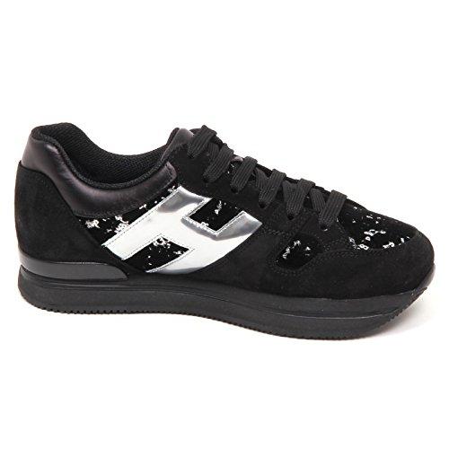 Scarpe Nero Shoe Velvet Donna Hogan H222 Suede E4466 Argento Woman Sneaker OqTaYZ