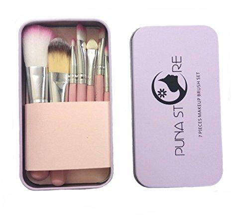Puna Store® 7 Piece Makeup Brush Set   Pink