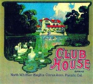 (MAGNET La Puente North Whittier Club House Orange Citrus Fruit Crate Magnet Art Print)