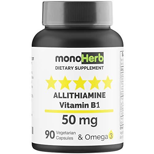 Allithiamine Vitamin B1 50 mg per Capsule – 90 Vegetarian Capsules