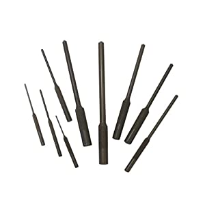 Grip Roll Pin Punch Set, 9 Pieces