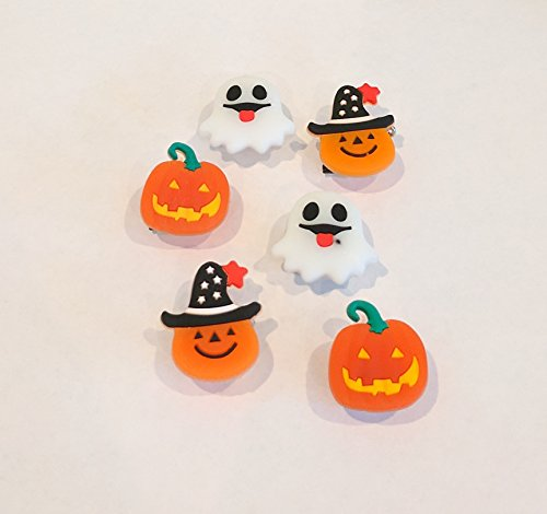 Mammoth Sales 25 PC LED Light up Halloween Flashing Party Favor Pins - Pumpkins Ghosts (Halloween Flashing Pin)
