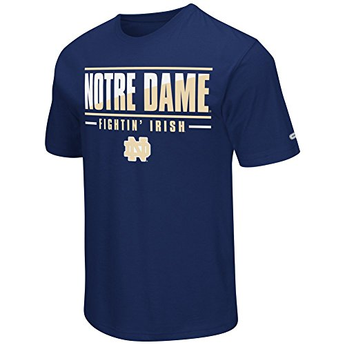 Colosseum NCAA Men's -Big and Tall-Two Face T-Shirt-Notre Dame Fighting Irish-Navy-2XL Tall