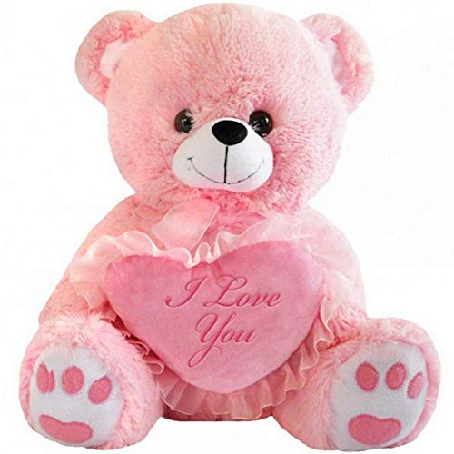 DBK Gifts Teddy Bear with I Love You Heart (Pink)
