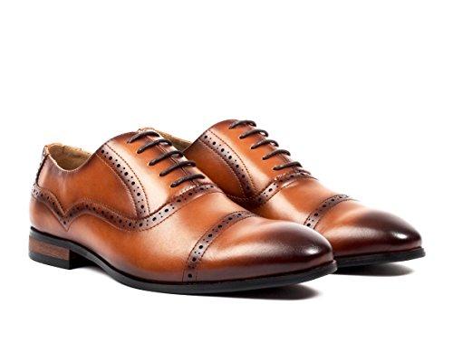 Santino Luciano Davino Men's Brogue Cap-Toe Dress Shoes