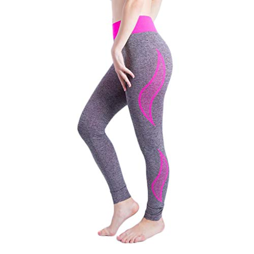 Seamless Print Work-Out Yoga Leggings for Women, Sexy High Waist Tummy Control Stretch Sports Pants, Fitness Butt Lift Running Slimming Booty Tights