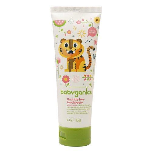 BabyGanics Fluoride Free Toothpaste 4 oz, 3 Pack - Watermelon
