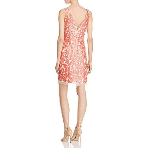 Lace Apricot Cocktail Sleeveless Womens Aidan Mattox Dress EYqa46w